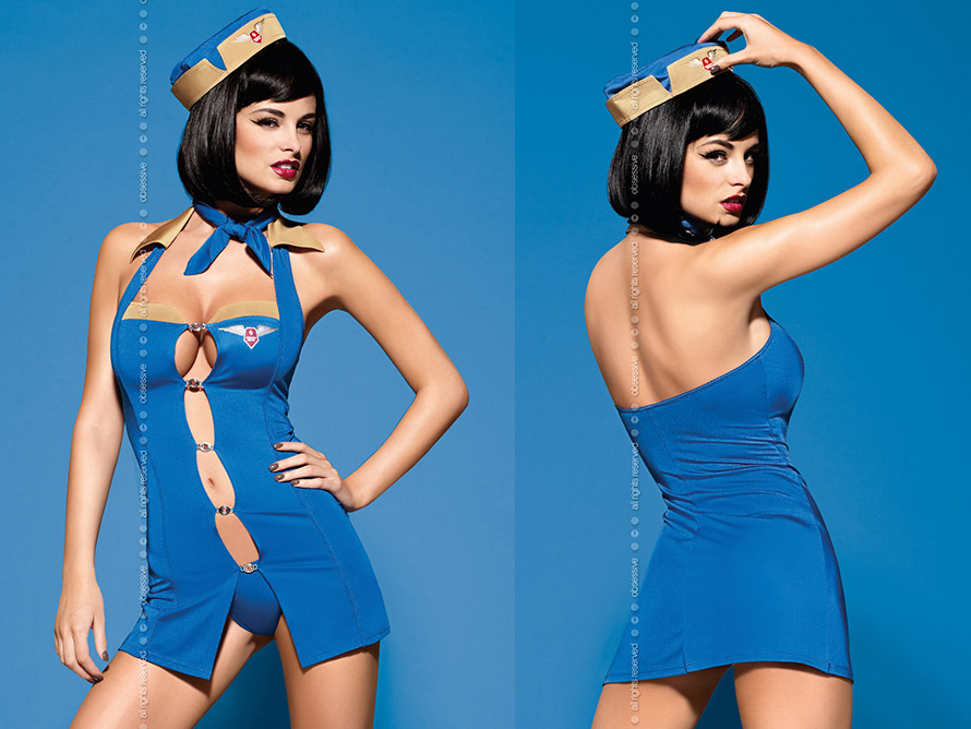Obsessive Costume d'hôtesse de l'air sexy Air Hostess (L/XL)