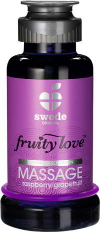 Lotion de massage Fruity Love - Framboise & pamplemousse - 100 ml