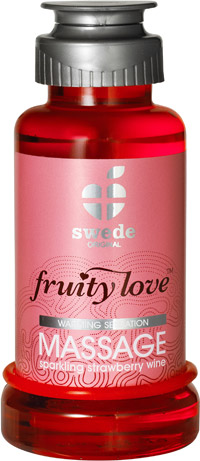 Fruity Love Massage Lotion - Sparkling Strawberry Wine - 100 ml