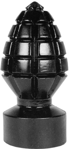 All Black No. 33 Grenade Anal plug