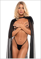Adore by Allure Cape Chloe The Kiss Me Again Sheer - Black (S/XL)