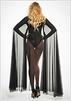Allure Lingerie Coco Sheer Cape - Black (S/L)
