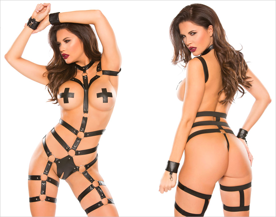 Allure Lingerie Body harness Untamed Heart Playsuit (S/L)