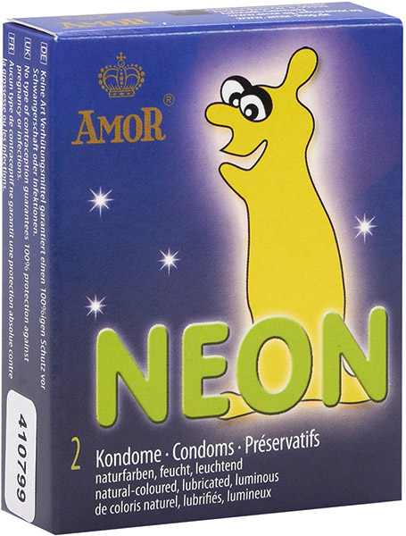 Amor NEON phosphorescent condom (2 Condoms)