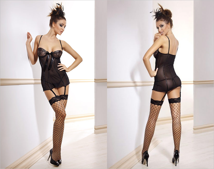 Anais Lily Chemise & String (XS)