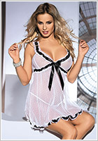 Avanua Kami Chemise & String - Weiss (S/M)