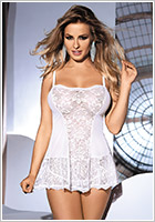 Avanua Liliana Chemise & Thong - Cream white (L/XL)