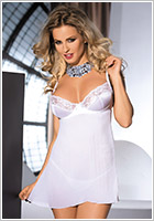 Avanua Poetic Chemise & String - Weiss (L/XL)