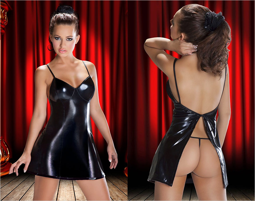 Avanua Aditi Mini Dress & Thong - Black (S/M)