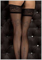 Ballerina Hush Hush 351 Hold Ups - Black (L/XL)