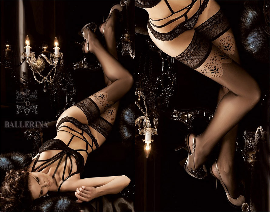 Ballerina Noir Touch 179 Hold Ups - Black (S/M)