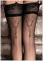 Ballerina Exclusive Design 241 Hold Ups - Black (S/M)