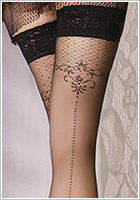 Ballerina Charm Collection 076 Hold Ups - Black (S/M)