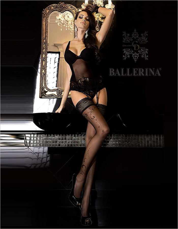 Ballerina Bas autofixants Exclusive Design 246 - Noir (L/XL)