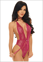 Beauty Night Adelaide Stringbody - Pink (S/M)