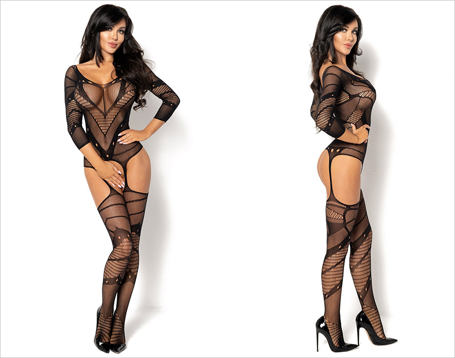 Beauty Night Bodystocking Esmeralda - Nero (S/L)