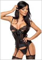 Beauty Night Corset & String Marilyn - Noir (L/XL)