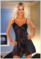 Beauty Night Nuisette & String Alexandra - Noir (L/XL)