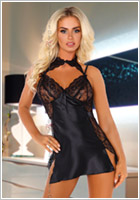 Beauty Night Nuisette & String Andrea - Noir (L/XL)