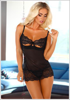 Beauty Night Nuisette & String Denver - Noir (L/XL)