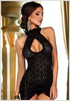 Beauty Night Lavanya Mini Dress & Thong - Black (S/M)