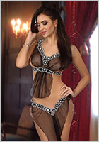 Beauty Night Miriam Greek Goddess Costume - Black (L/XL)