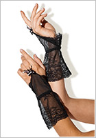 Besired Emma Fingerless Gloves - Black (S/L)