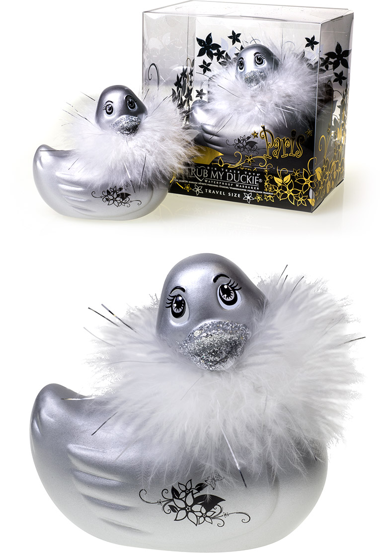 I Rub My Duckie Vibrator - Paris Silber (Mini)