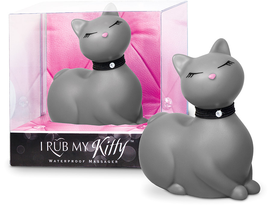 I Rub My Kitty vibrating Cat - Grey (Mini)