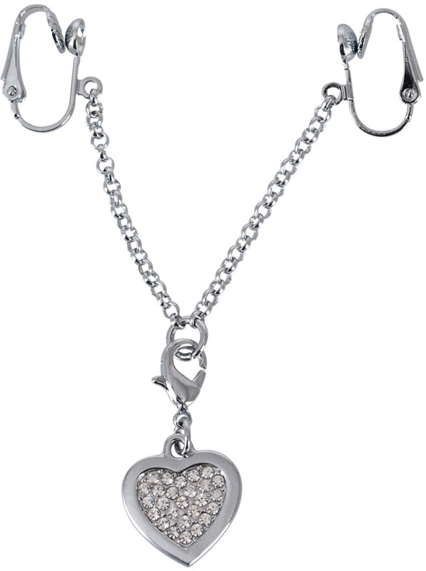 Love Heart erotic jewellery for labia