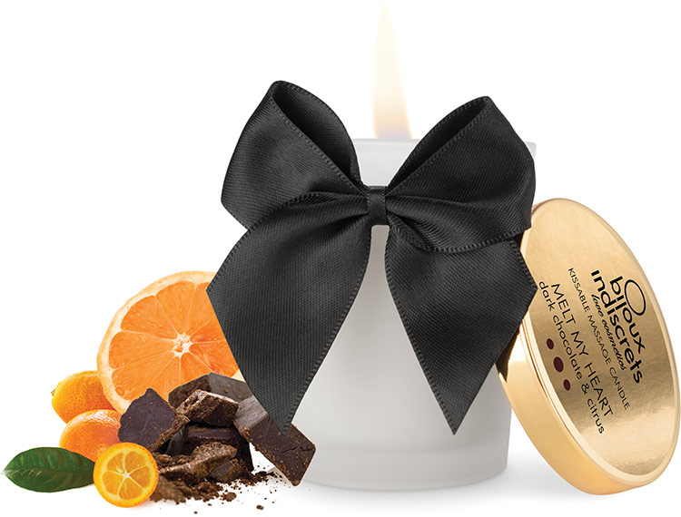 Bijoux Indiscrets Massage Candle - Dark Chocolate & Citrus