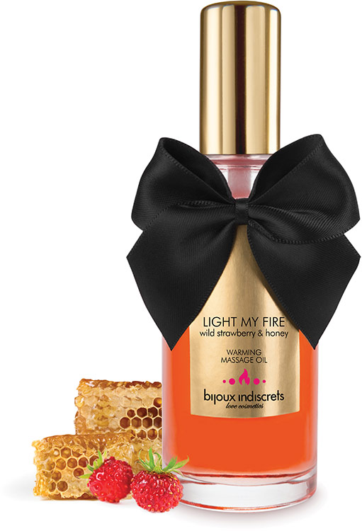 Bijoux Indiscrets Warming Massage Oil - Wild Strawberry & Honey