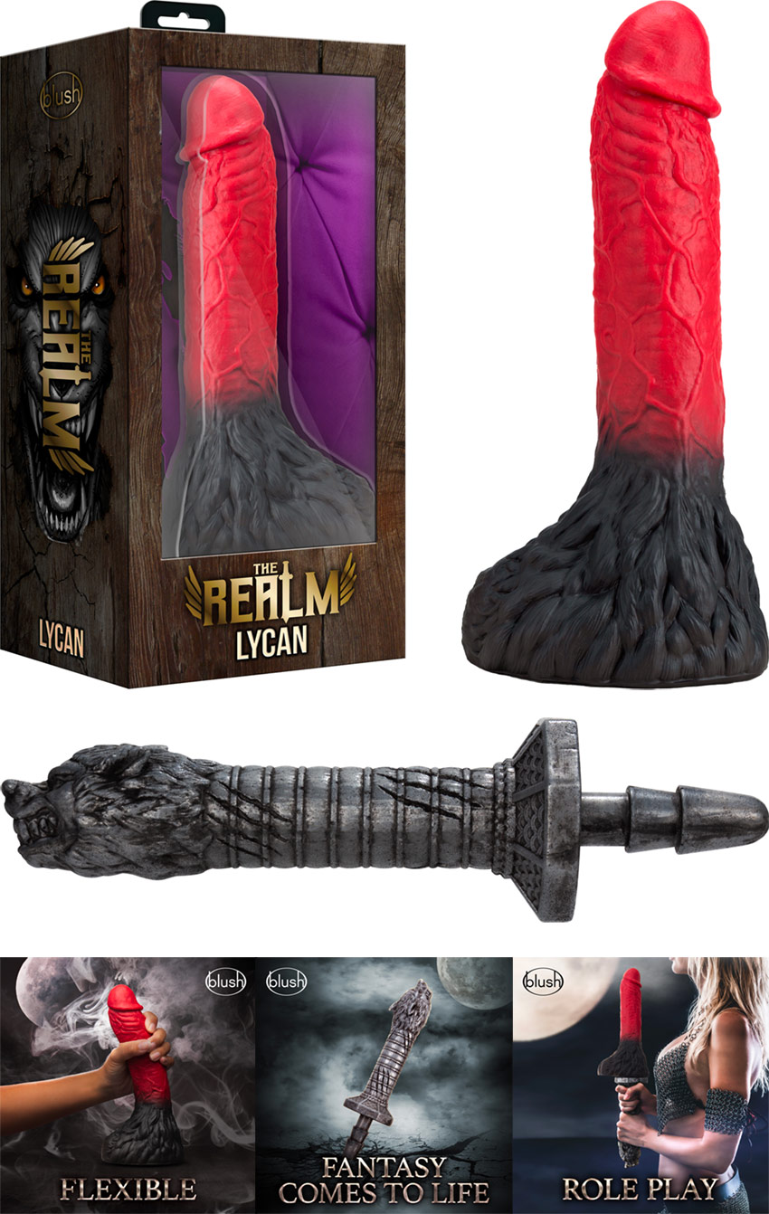 The Realm Lycan & Rougarou dildo with handle