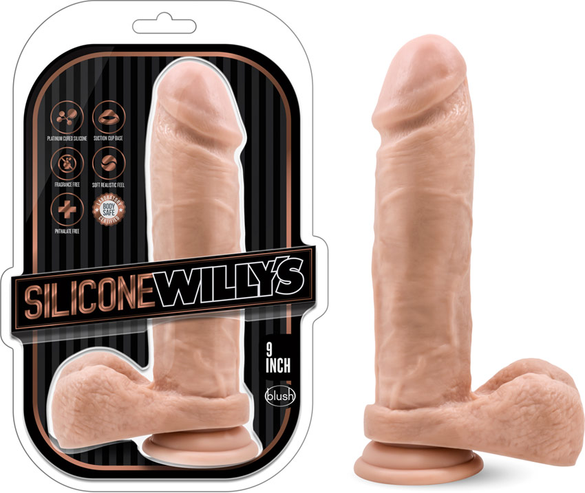 Godemichet réaliste en silicone Blush Silicone Willy's - 18.5 cm