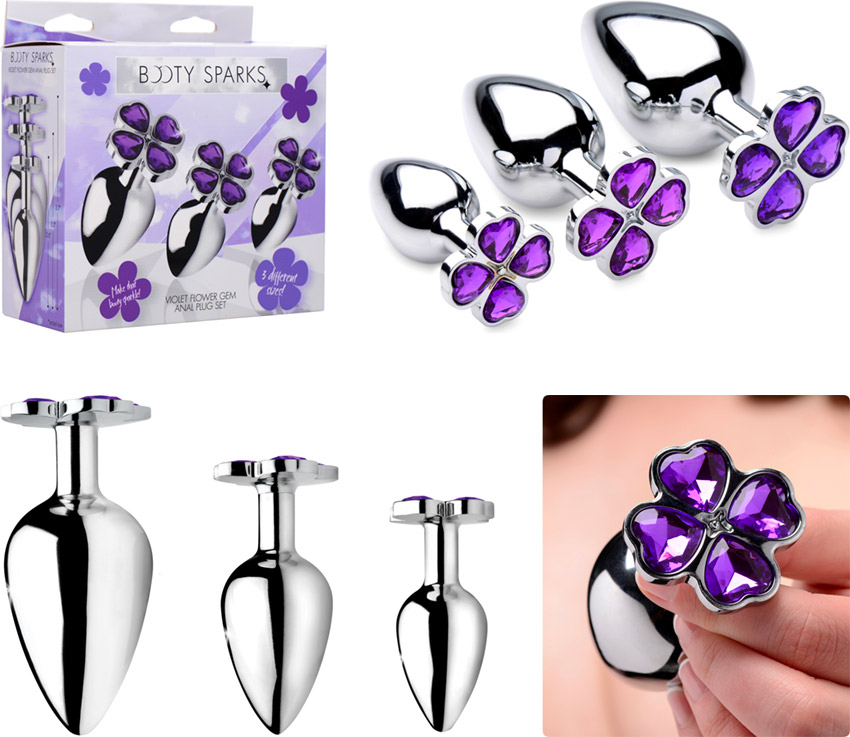 Booty Sparks Flower Gem anal training set (3 pieces)