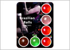 Brazilian Balls Mix scented lubricant balls - 6 pieces