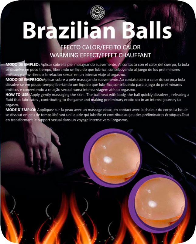 Brazilian Balls flavoured & heating lubricant balls