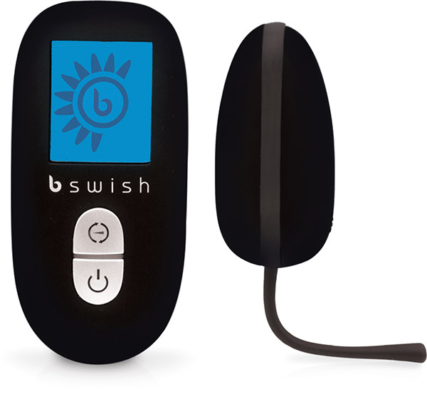 B Swish Bnaughty Premium Unleashed Vibro-Ei - Schwarz