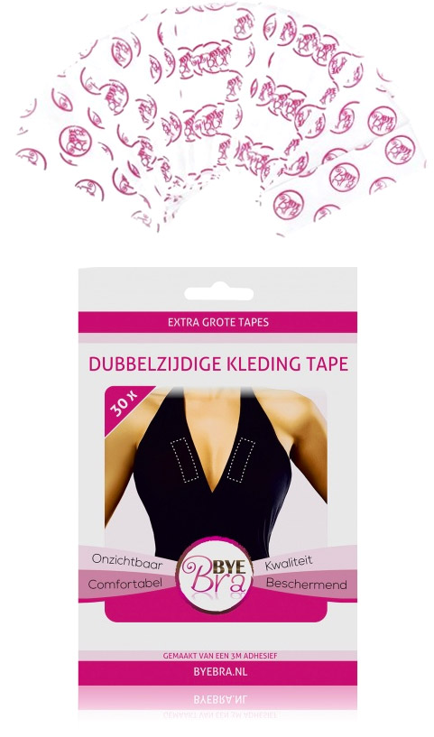 Bye Bra Dress Tape Self adhesive strips for clothes (30 pieces)