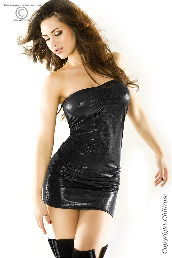 Chilirose 3348 Mini Dress - Black (S/M)