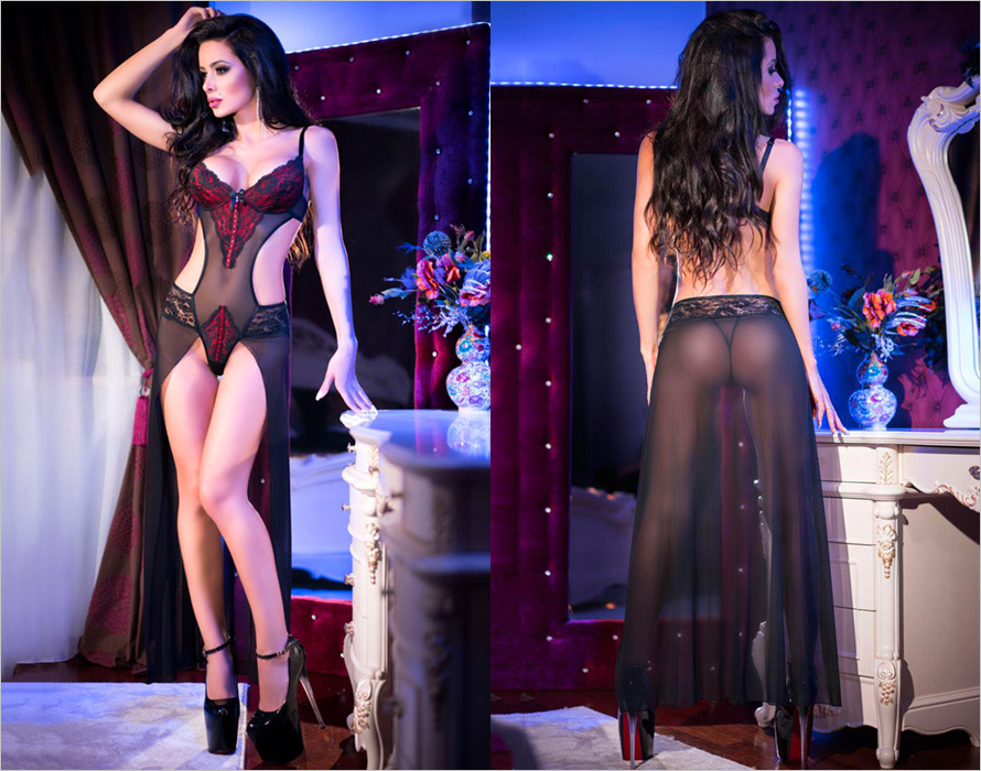Chilirose Body long 4154 - Noir (L)