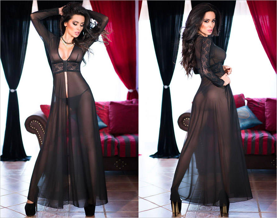 Chilirose 4136 Negligees - Black (XL)