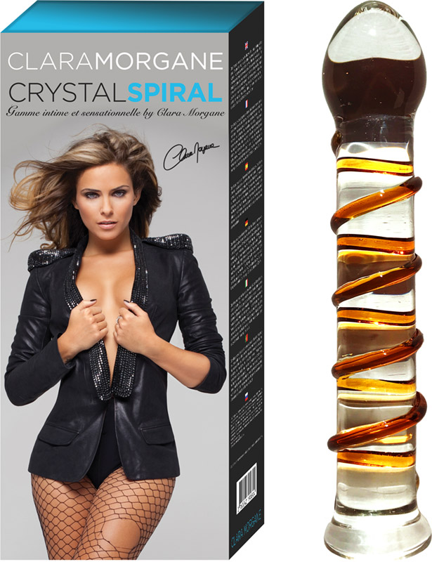 Clara Morgane Crystal Spiral glass dildo