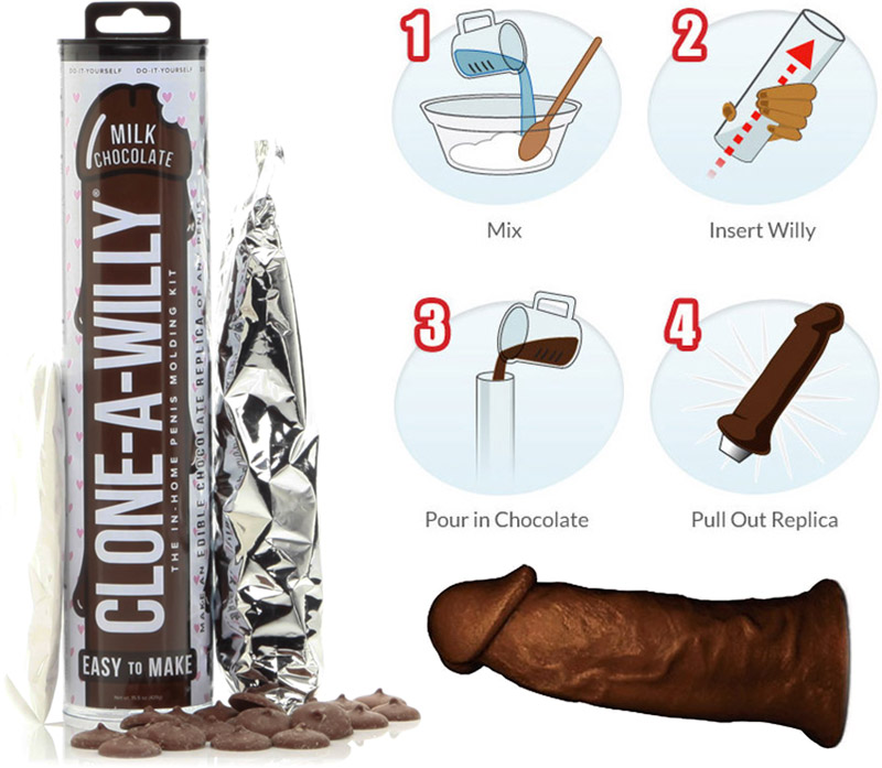 Clone-A-Willy - Chocolat au lait