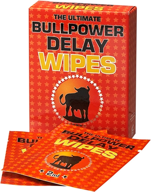 Ejaculation delaying wipes - Bull Power Delay - 6 pieces