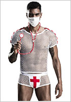 Saresia sexy doctor costume - 4 pieces (S/L)