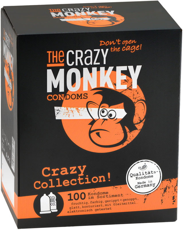 The Crazy Monkey condoms - Crazy Collection (100 Condoms)