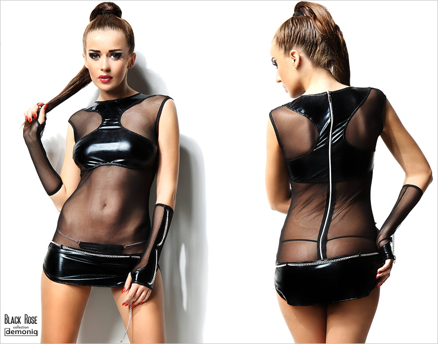 Demoniq Anette Set - Black (L/XL)