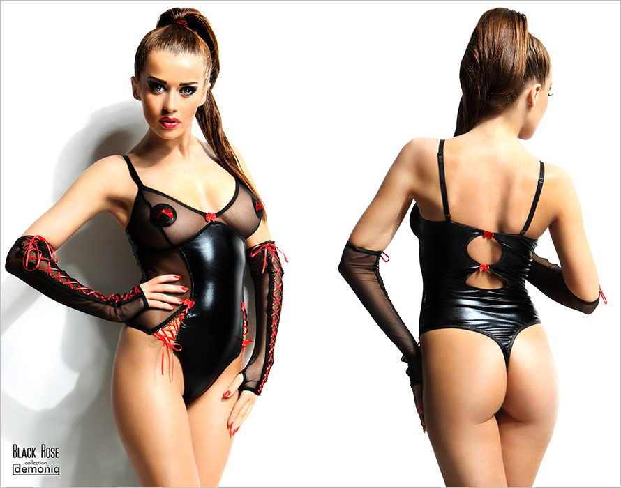 Demoniq Hannah Body - Black (S/M)