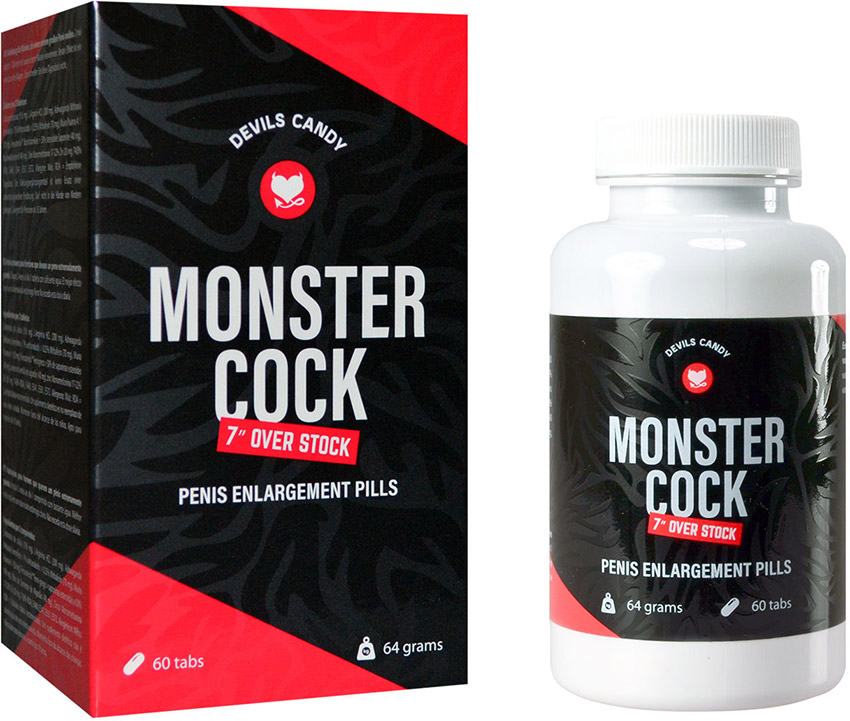Pillole per l'ingrandimento del pene Devils Candy Monster Cock